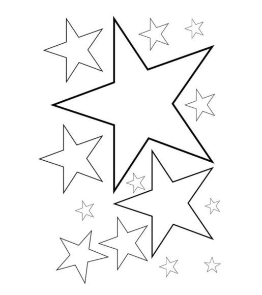 Tranh tô màu ngôi sao đẹp nhất