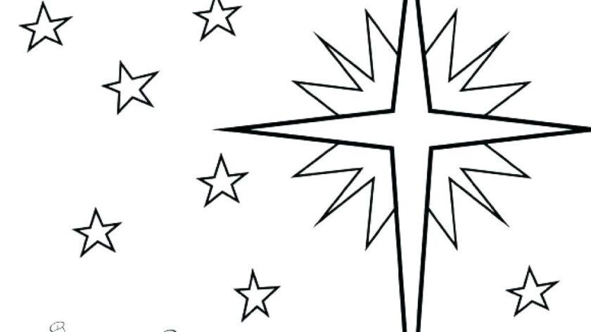 Tranh tô màu ngôi sao toả sáng