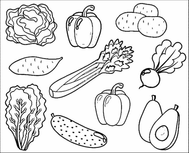 Tranh tô màu rau củ quả ngon nhất
