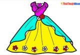 Tranh tô màu váy