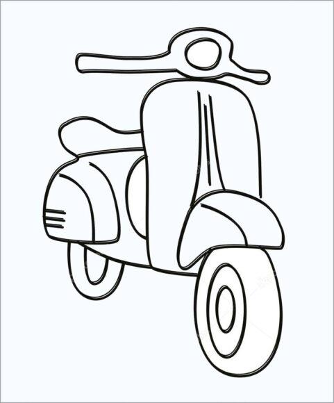 Tranh tô màu xe máy tay ga