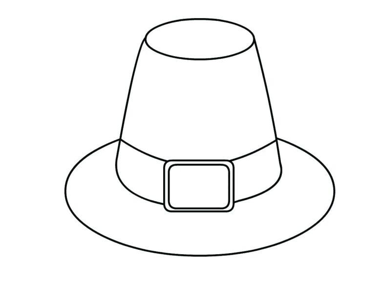 Tranh vẽ chưa tô màu cái mũ
