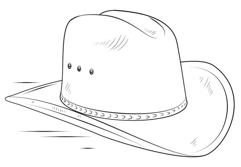 Tranh vẽ đen trắng cái mũ cho bé tô màu