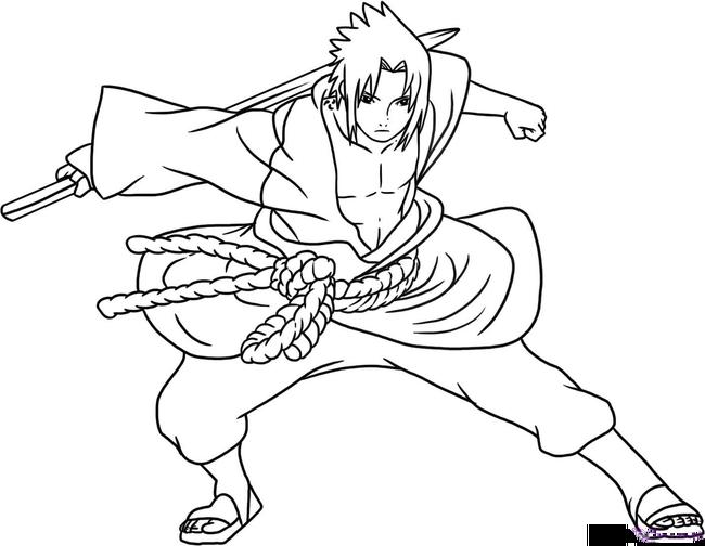 Tranh vẽ Naruto cho bé tập tô
