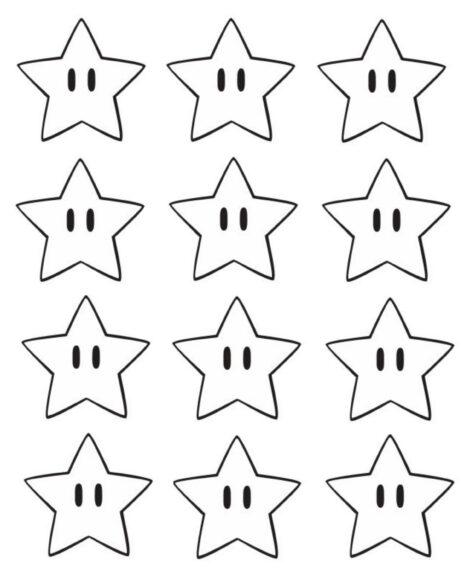 Tranh vẽ ngôi sao đẹp cho bé tô màu