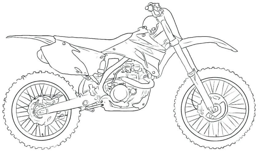 Tranh vẽ xe máy cho bé tô màu