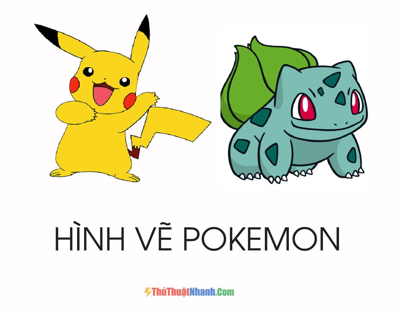 vẽ tranh hình vẽ Pokemon